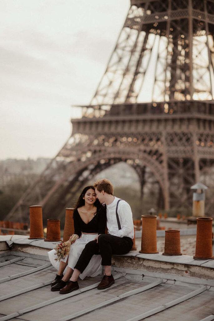 Brautpaar vor Eifelturm