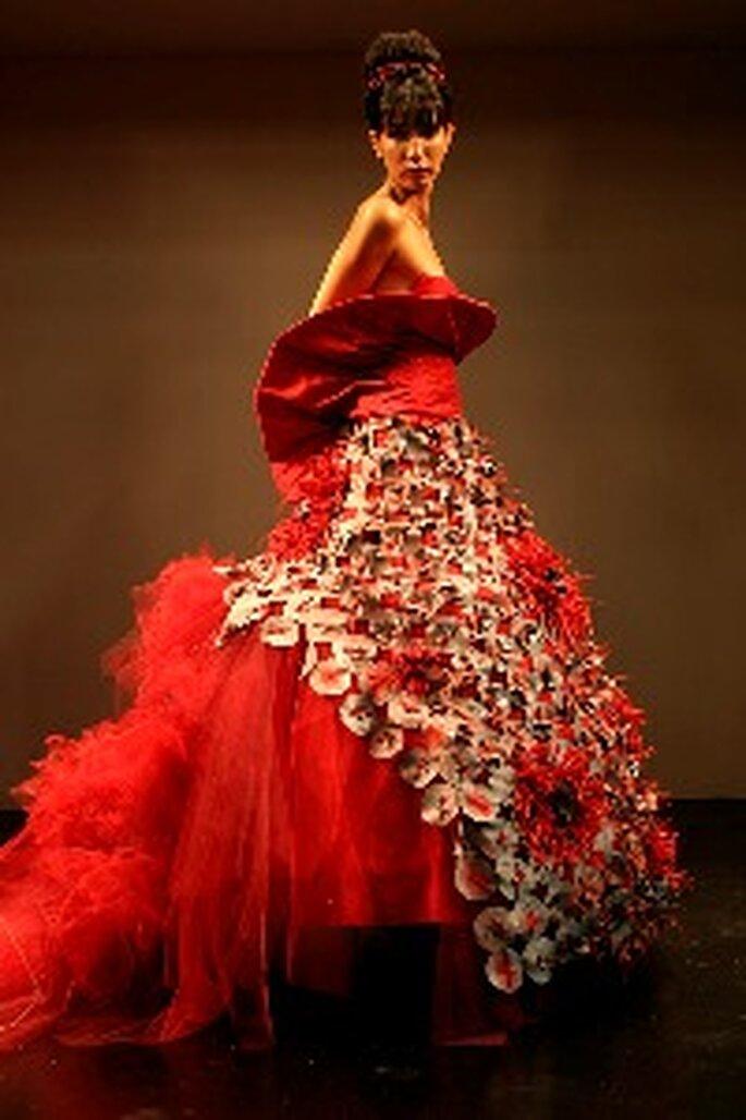 Vestidos de Noiva vermelhos - Cristina Lopes