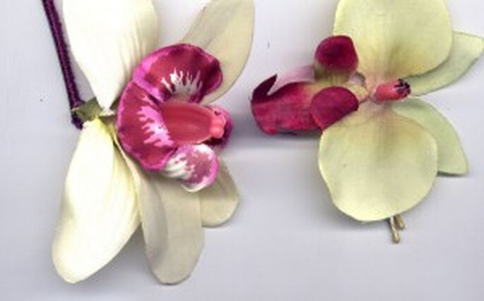 Tocado de orquideas