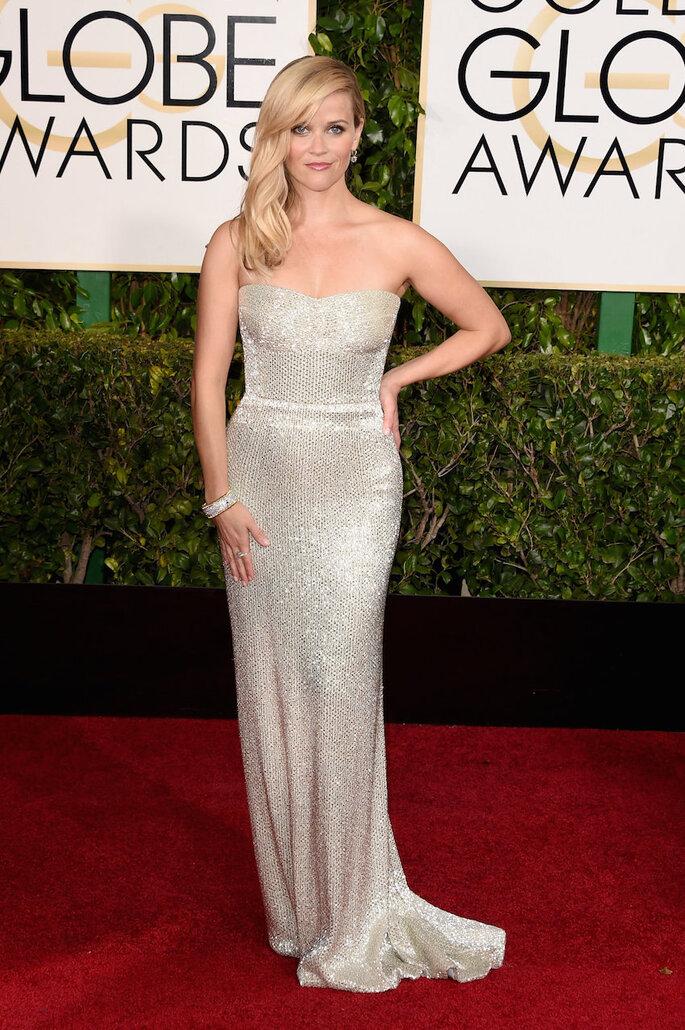 Las mejor vestidas de los Golden Globe Awards 2015 - Calvin Klein (Reese Witherspoon)