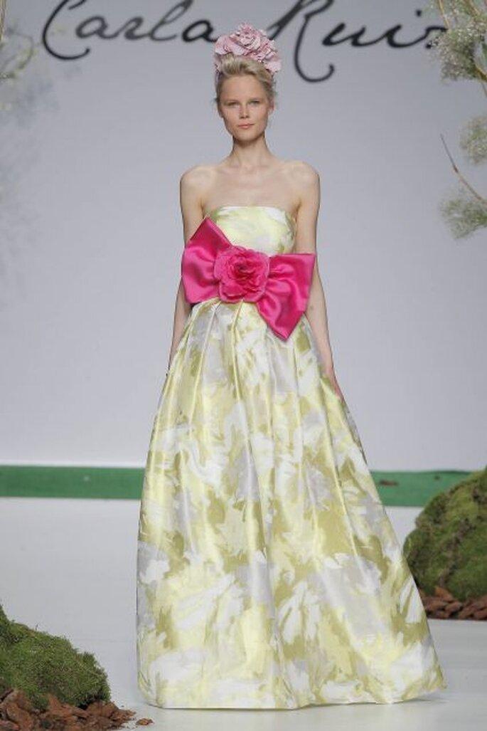 Vestido de fiesta de Carla Ruiz 2014. Foto: Barcelona Bridal Week / Ugo Cámara
