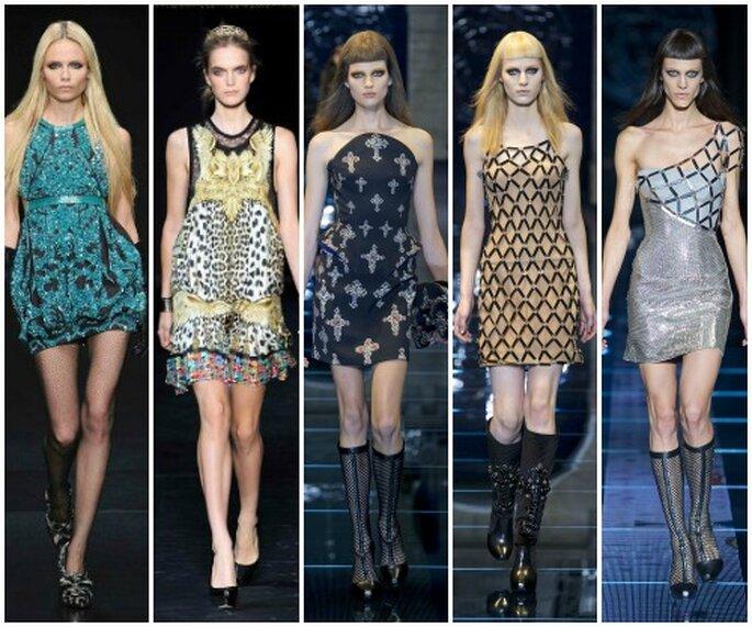 Proposte unconventional firmate Roberto Cavalli e Versace. Tutte, ovviamente, rigorosamente in corto!