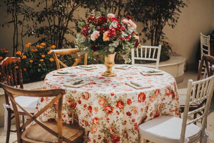 arranjo de flores simples de casamento