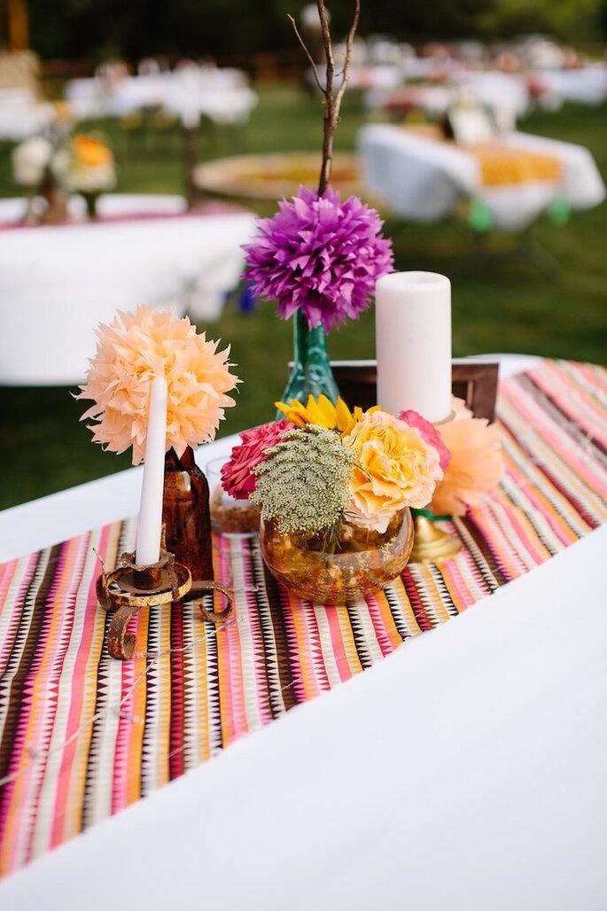 Caminos de mesa para la decoración de boda - Tucker Images