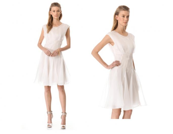 Vestido de novia vanguardista en organza y manga corta de Cacharel - Foto Shopbop