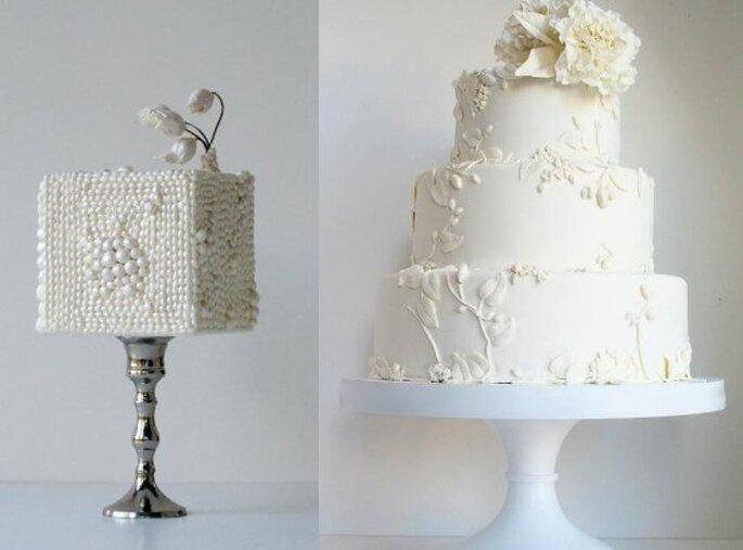 Pasteles de boda. Foto del sitio de Maggie Austin.