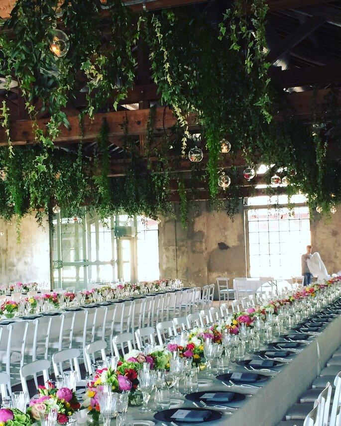 FIORISTA ERBA SILVANO - tavolate ricevimento con decorazioni floreali