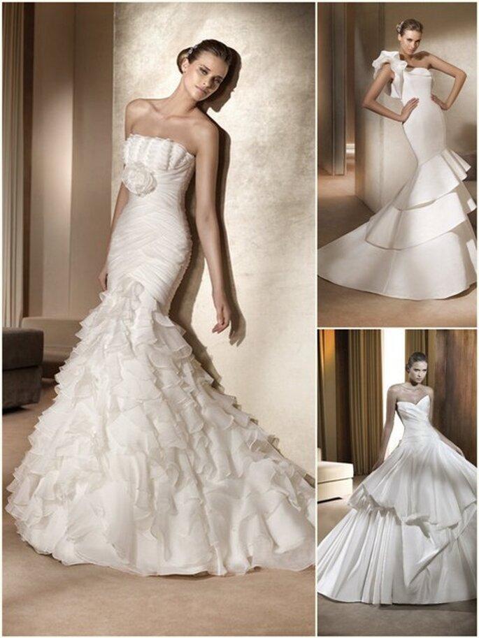 Se já casou, porque não vender o seu vestido de noiva online? Foto: colecção da Pronovias 2011