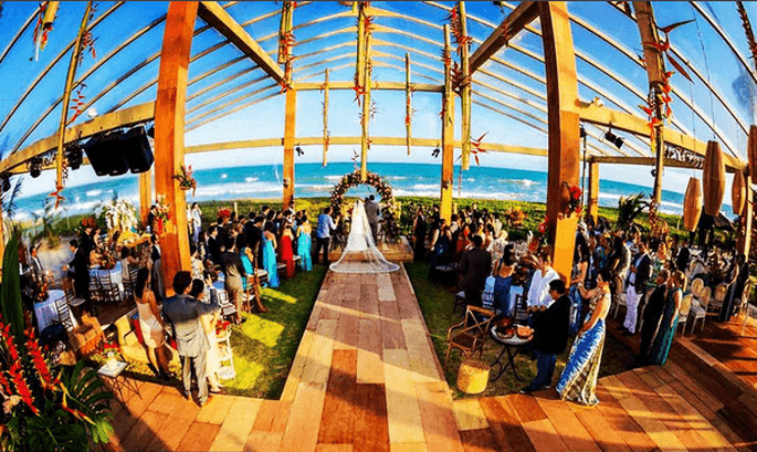Casamento vista praia
