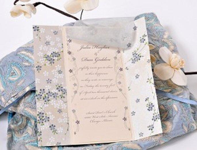Azulsahara, invitaciones de boda originales - modelo Ayame Flordeiris