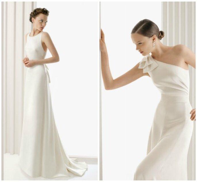 La elegancia y la sencillez unidas en estos vestidos de novia. Foto: Rosa Clará