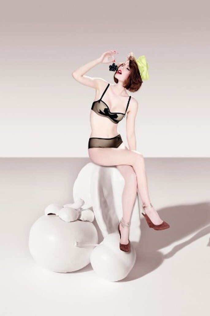 Soutien-gorge noir - Noeuds et merveilles - Chantal Thomass