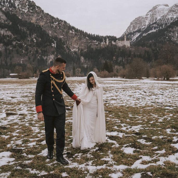 foto pareja nieve