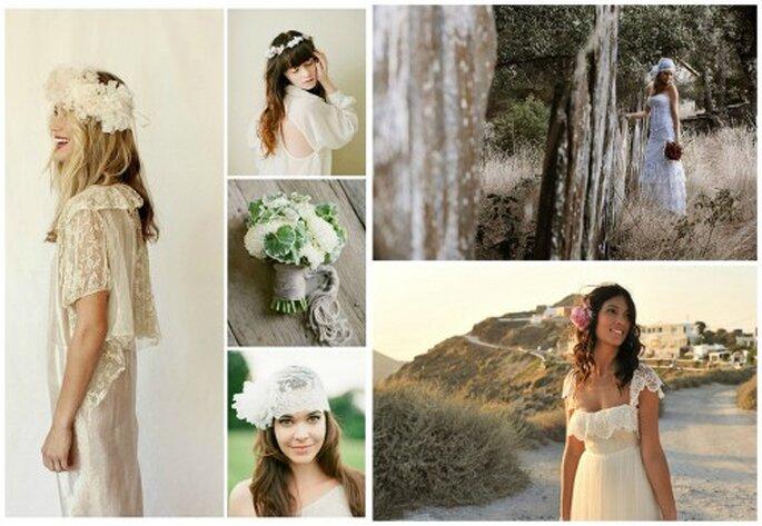 Vestidos de novia estilo hippie. Foto: Fabio Zardi, Jose Cortes Cortejarena, Stone Fox Bride, Alea Lovely, BOHEMIA.