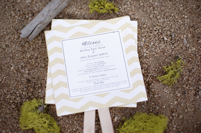 Chevron en la decoración de tu boda - Melina Wallisch Photography