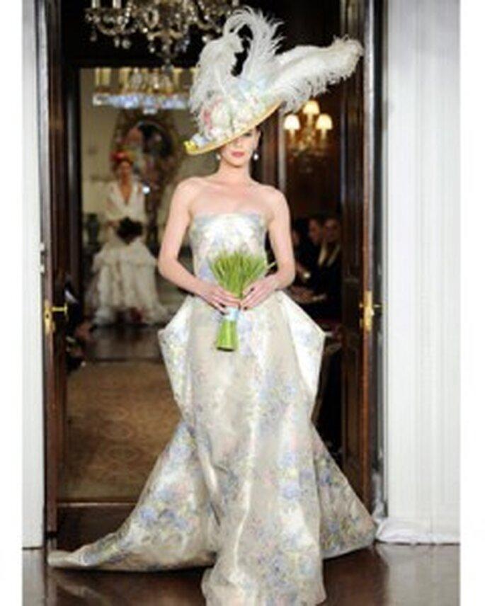 Sofisticado vestido de novia de Carolina Herrera 2011