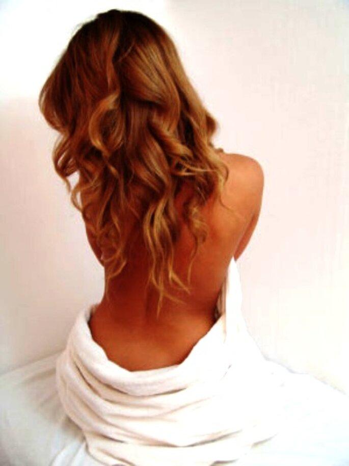 Peinados de novia: extensiones de cabello