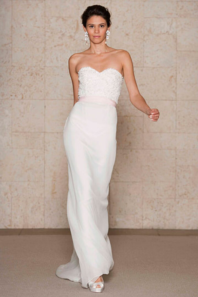 Vestido da semana - modelo cai-cai Oscar de La Renta