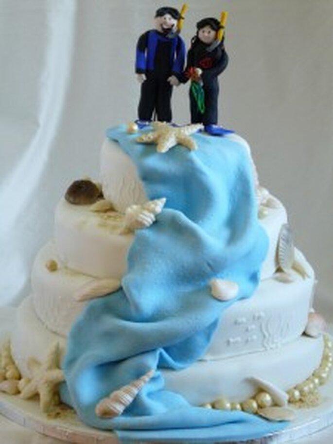 Maritime Hochzeitstorte
