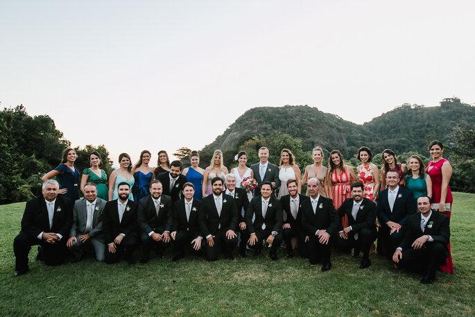 Foto noivos e padrinhos