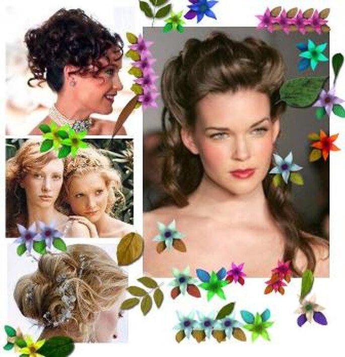 Penteados Noivas Verão - estilo Romantic