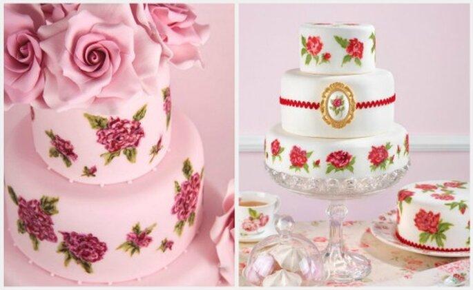 Tortas de boda en rosa. Fotos: www.cakeshautecouture.com