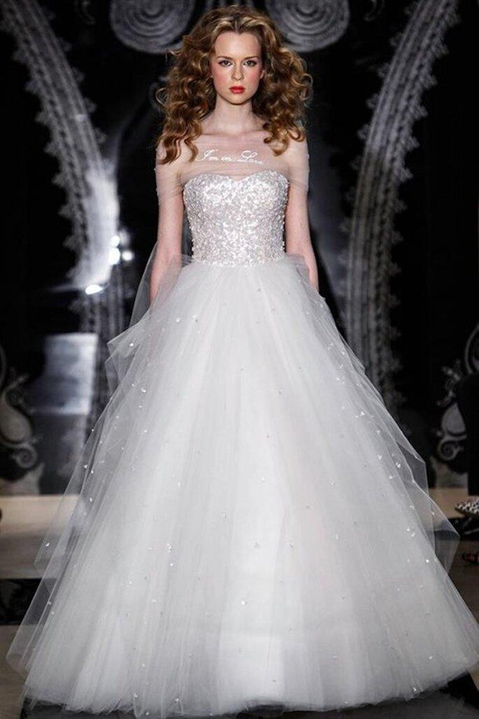 Vestido de novia Reem Acra primavera 2014 - Foto Reem Acra Facebook