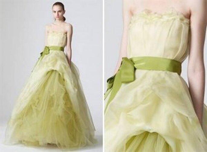 vestidos de novia en color verde