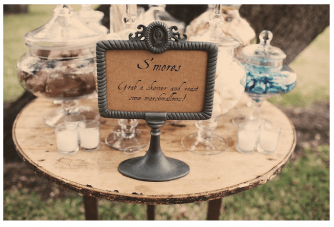 Decoración original para una boda de día - Foto Claire Eliza