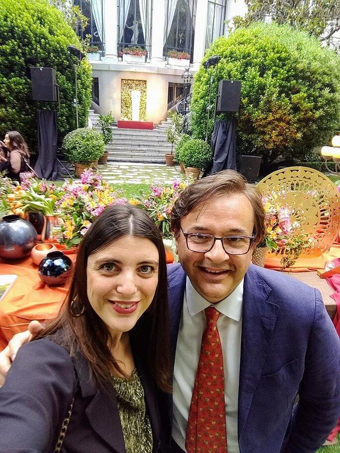 Selfie sorpresa con Angelo Garini, che ha curato gli allestimenti della serata