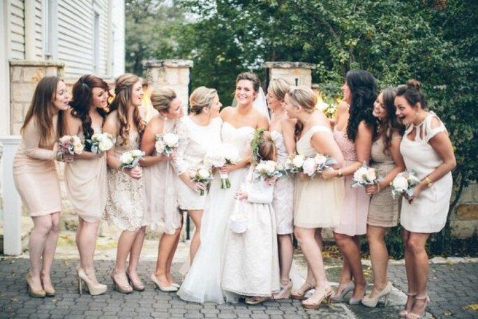 Colores neutros en los vestidos de tus damas de boda - Foto Taylor Lord Photography