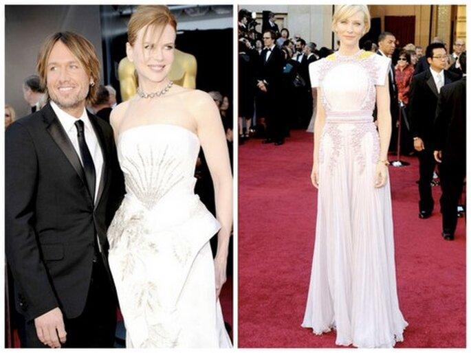 De izquierda a derecha: Keith Urban & Nicole Kidman, Cate Blanchett