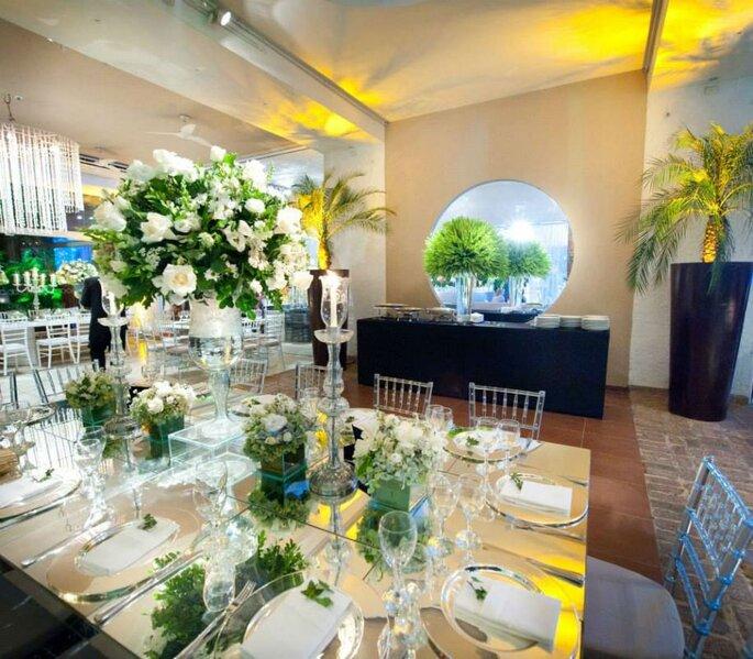 Decoração mesa de casamento