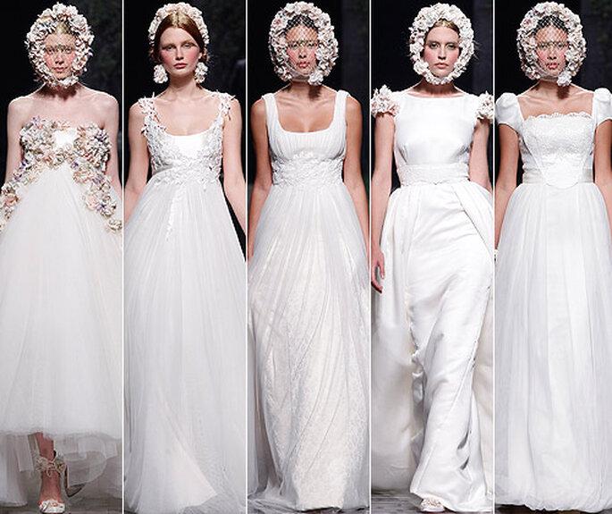 Vestidos de novia 2013 de Victorio&Lucchino. Foto: Barcelona Bridal Week