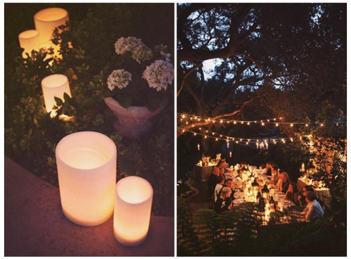 Decoración de boda con velas - Foto Stephanie Williams Photography