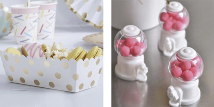 Plateaux pour candy bar et Mini-distributeurs de bonbons
