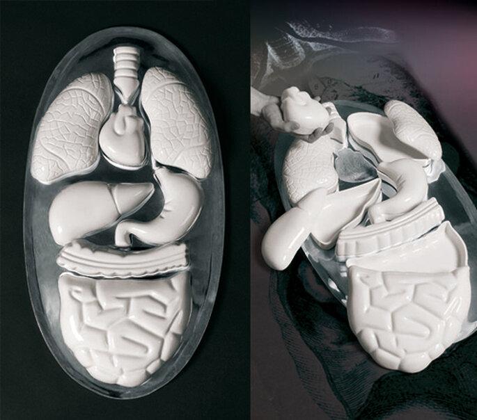Set 8 contenitori multiuso con vassoio in porcellana e alluminio No_body, Thomas Ballarini per Seletti. Foto: Seletti