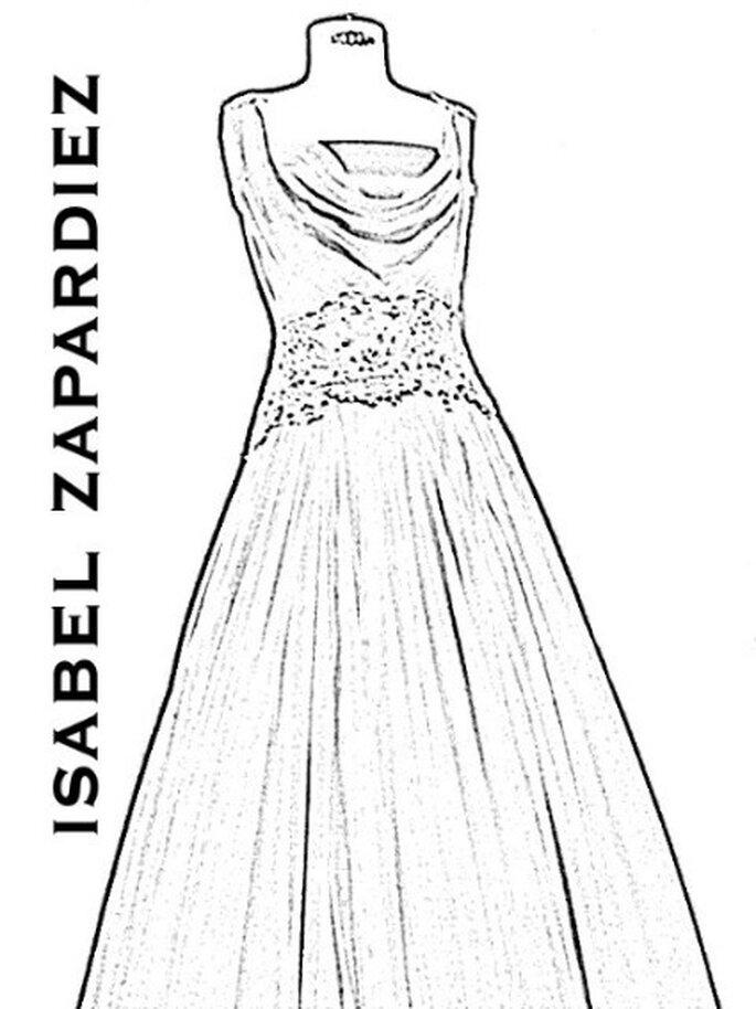 Boceto de la nueva colección de vestidos de novia Isabel Zapardiez 2012