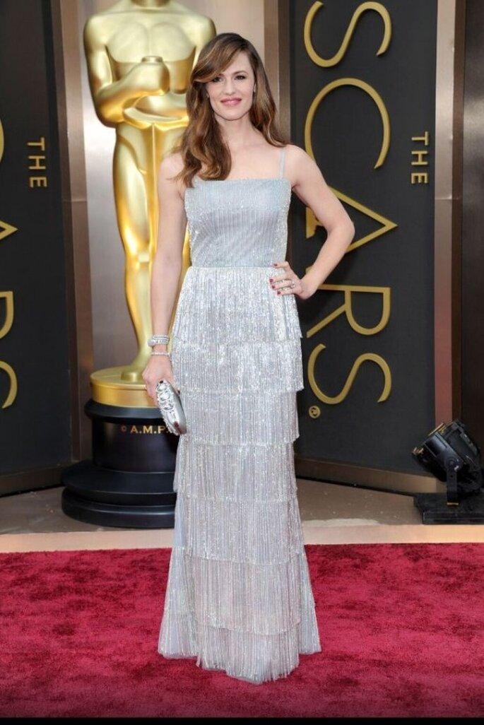 Jennifer Garner en la red carpet de los Oscar 2014 - Foto Oscar de la Renta