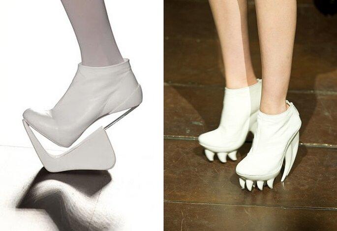 Zapatos de líneas sorprendentes. Fotos: Martinez Lierah e Iris Van Herpen.