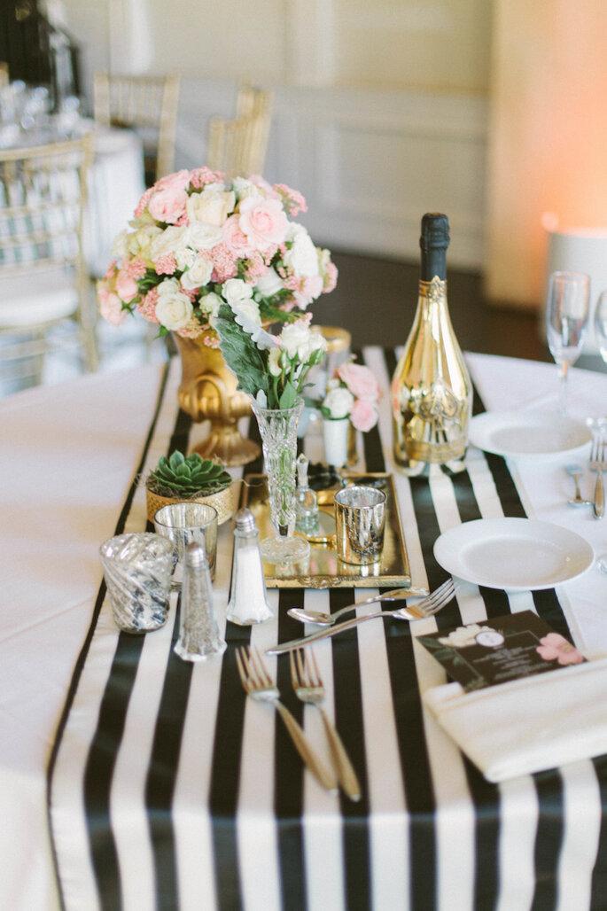 Caminos de mesa para la decoración de boda - Katie Shuler Photography