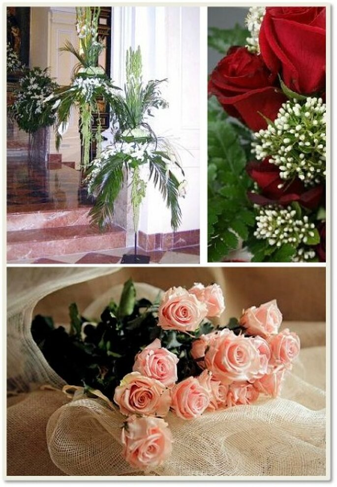 Crear agradables adornos con flores logrará que el ambiente sea muy distinto al habitual que ofrecen las iglesias.