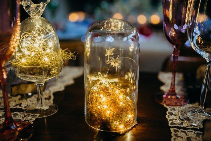Luz de fadas em casamentos