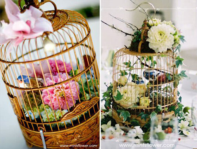 Avec des fleurs colorées, les cages ont fière allure