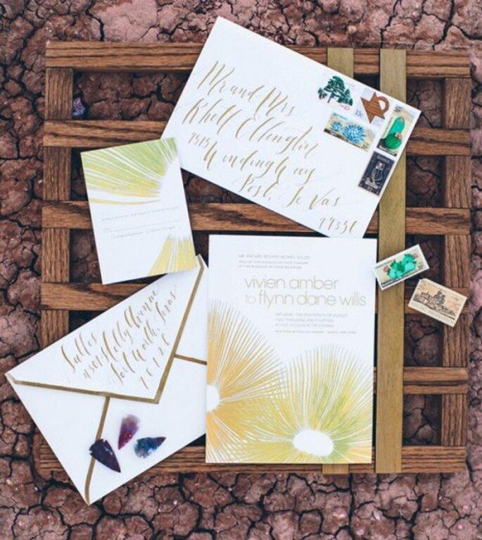 9 tipografías gratuitas para tus invitaciones de boda. Fotografía Nathan Russell Photography para Ruffled