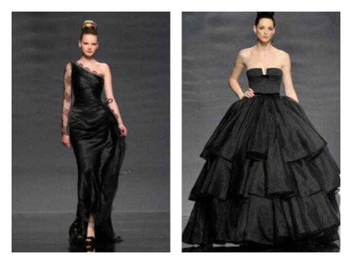 Vestidos de noivas pretos - Coleção Rosa Clará 2011