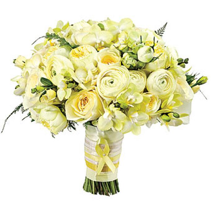 Bello bouquet de rosas amarillas