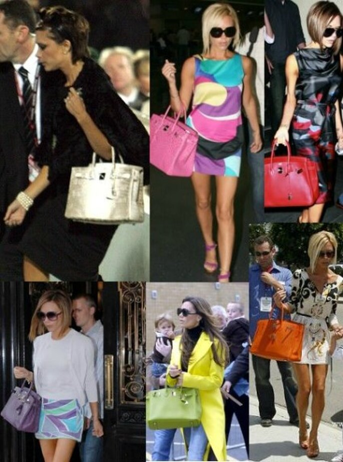 Victoria Beckham...beata tra le borse...rigorosamente Hermès!