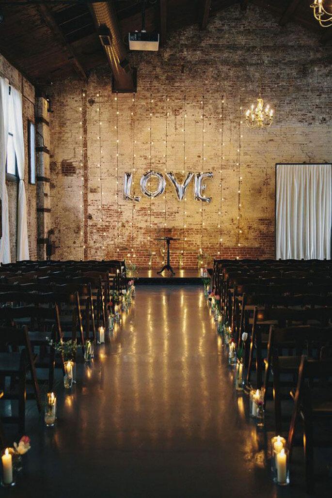 Hochzeitszeremonie modern industriell