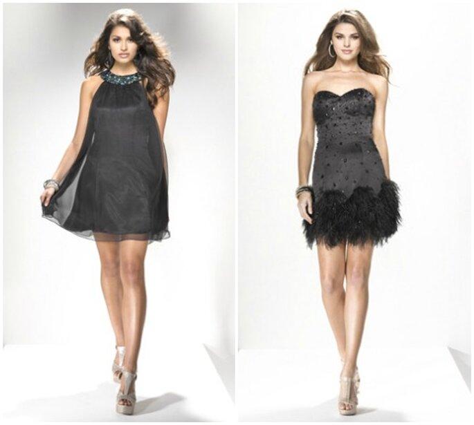 Due Little Black Dress della Collezione 2013 firmata Flirt by Maggie Sottero. Foto: www.flirtprom.com